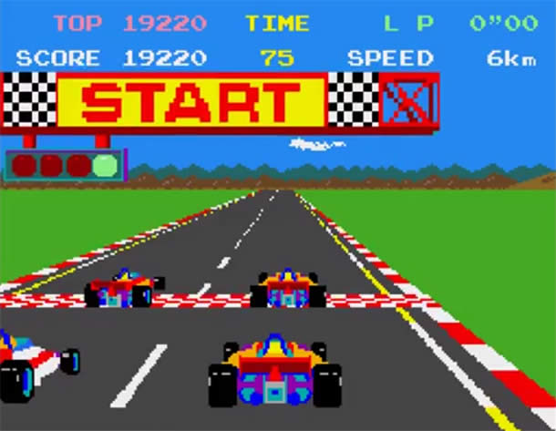 La version Arcade de Pole Position portée sur Atari ST